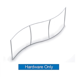 10ft x 36in Wave Skybox Hanging Banner | Hardware Only