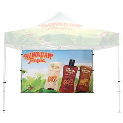 Single Sided Custom Print Backwall for 10 ft Casita Canopy. We offer the highest quality canopy tents, party tents, shade canopies, tent tarps, canopy accessories & more at the lowest wholesale price to the public, excellent way to provide shade.