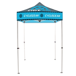10ft x 10ft Casita Tent - Full-Color UV Print (Frame & Canopy) are an excellent way to provide shade for outdoor events. This canopy has a 10ft x 10ft footprint with five height settings settings on the legs.