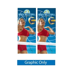 2ft x 5in Zephyr Outdoor Banner Stand Double-Sided Display has adjustable width and height to hold wide range of banners with corner grommets. Zephyr Outdoor Banner Stand can support a few sizes of graphics, allowing you displaying your message