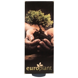 This Zeppy outdoor banner stand has both stability and looks. It is adjustable in both width and height to allow multiple graphic sizes, and has a large base that can be filled with either water or sand. Price includes stand hardware.