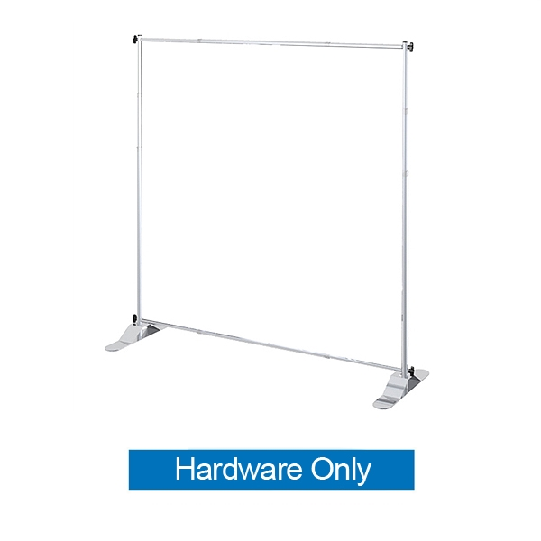 This 4ft x 8in Jumbo Banner Stand Small Tube Display has both stability and looks. It is adjustable in both width and height to allow multiple graphic sizes, and has a large base that can be filled with either water or sand. Telescopic Banner Stand.
