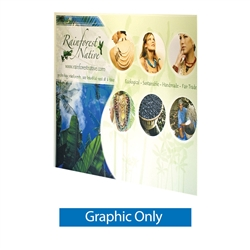 "8ft x 8ft Jumbo Banner Stand Small Tube Graphic Only. This particular selection has smaller tubes that measure 1 1/8"""" in diameter and connect together on all four sides. The fabric graphic slides onto the top and bottom cross bars, and displays tautly"