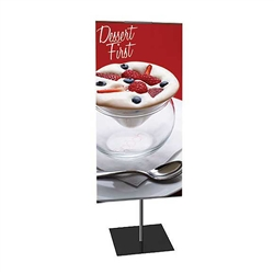 12in x 24in Classic Banner Stand Small Single-Sided Graphic Package. We offers a full line of trade show displays, pop up booths, banner stands, table top displays, banner stands, hanging banners, signs, molded shipping cases, counters and podiums.