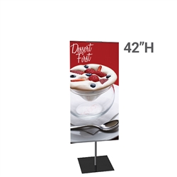 12in x 42in Classic Banner Stand Small Double-Sided Graphic Package. We offers a full line of trade show displays, pop up booths, banner stands, table top displays, banner stands, hanging banners, signs, molded shipping cases, counters and podiums.
