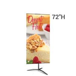 24in x 72in Classic Banner Stand Medium Black With Travel Base Single-Sided Graphic Package. We offers a full line of trade show displays, pop up booths, banner stands, table top displays, banner stands, hanging banners, signs, molded shipping cases.