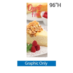 24in x 96in Classic Banner Stand Medium Single-Sided Graphic Only. We offers a full line of trade show displays, pop up booths, banner stands, table top displays, banner stands, hanging banners, signs, molded shipping cases.