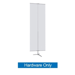 36in Classic Banner Stand Large Silver With Travel Base Hardware Only. We offers a full line of trade show displays, pop up booths, banner stands, table top displays, banner stands, hanging banners, signs, molded shipping cases.