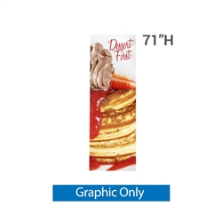 "24 In. X 71 In. X1 Banner Stand Small Graphic Only. Carbon fiber poles allow the X1 banner stand to hold a 24"" X 71"" (2 ft X 5.9 ft) digital print taut and straight."