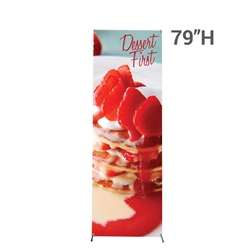 "31.5 in x 79 in X2 Banner Stand Medium Graphic Package. Carbon fiber poles allow the X2 banner stand to hold a 31.5"" X 79"" (2.6 ft X 6.6 ft) digital print tight and straight. Stand comes with a one year warranty."
