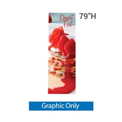 "31.5 in x 79 in X2 Banner Stand Medium Graphic Only. Carbon fiber poles allow the X2 banner stand to hold a 31.5"" X 79"" (2.6 ft X 6.6 ft) digital print tight and straight. Stand comes with a one year warranty."