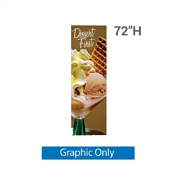 24in x 72in L Banner Stand SUPER FLAT Print (Graphic Only). For maximum classic simplicity, the L banner stand is the preferred choice. This affordable, lightweight aluminum frame sets up easily in seconds for ultimate convenience.