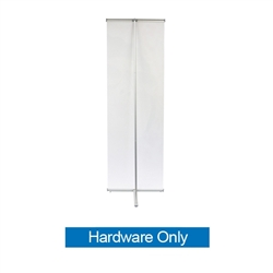 24in L Banner Stand Only. For maximum classic simplicity, the L banner stand is the preferred choice. This affordable, lightweight aluminum frame sets up easily in seconds for ultimate convenience.