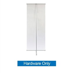 36in L Banner Stand Only. For maximum classic simplicity, the L banner stand is the preferred choice. This affordable, lightweight aluminum frame sets up easily in seconds for ultimate convenience.