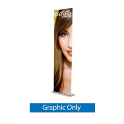24in x 92in Black SilverStep Retractable Banner Stand Vinyl Graphic Only.  SilverStep Retractable Banner Stands Displays are ideal for trade show or events. Professional banner stands for trade shows and presentations.