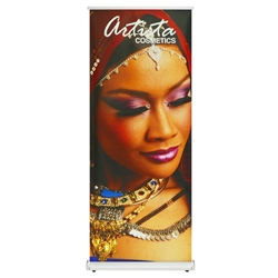 33.5 in. Puggle Roll Up - 80in h Super Flat Vinyl Retractable Banner Stand. This  Retractable Banner Stand Display has a unique look at an affordable price.
