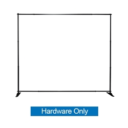 Slider Fabric Backwall 10ft x 8in Banner Stand Display Frame Only has both stability and looks. It is adjustable in both width and height to allow multiple graphic sizes, and has a large base that can be filled with either water or sand. Telescopic Banner