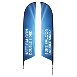 13 ft. Falcon Flag - Spike Base Double-Sided Graphic Package