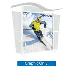 Tahoe Modular Displays 10ft A Main Graphic Only. Tahoe Modular Display Portable System is available in a number of configurations making it the perfect back wall display. The Tahoe is a modular trade show display booth that is fully customizable.