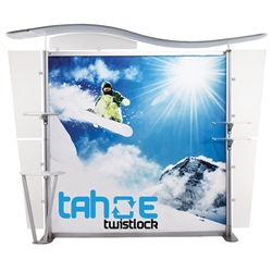 10ft Tahoe Twistlock X Modular Backwall Display Graphic Package. Twistlock Tahoe is a modular backwall display booth is fully customizable. Twistlock Tahoe Modular Display Portable System is available in number of configurations- perfect backwall display