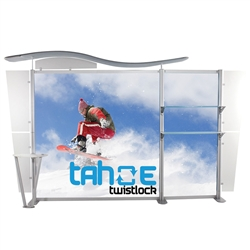 13ft Tahoe Twistlock Y Modular Backwall Display Graphic Package. Twistlock Tahoe is a modular backwall display booth is fully customizable. Twistlock Tahoe Modular Display Portable System is available in number of configurations- perfect backwall display