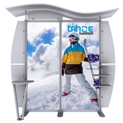 10ft Tahoe Twistlock W Modular Backwall Display Graphic Package. Twistlock Tahoe is a modular backwall display booth is fully customizable. Twistlock Tahoe Modular Display Portable System is available in number of configurations- perfect backwall display