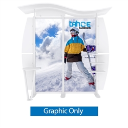 10ft Tahoe Twistlock W Modular Backwall Display Graphic Only. Twistlock Tahoe is a modular backwall display booth is fully customizable. Twistlock Tahoe Modular Display Portable System is available in number of configurations- perfect backwall display