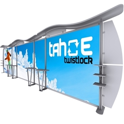 30ft Tahoe Twistlock V Modular Backwall Display Graphic Package. Twistlock Tahoe is a modular backwall display booth is fully customizable. Twistlock Tahoe Modular Display Portable System is available in number of configurations- perfect backwall display