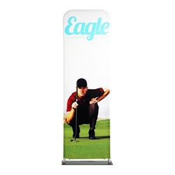 24in x 90in EZ Extend Tension Fabric Banner Stand | Single-Sided Pillowcase Graphic & Tube Frame