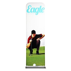 24in x 114in EZ Extend Tension Fabric Banner Stand | Single-Sided Pillowcase Graphic & Tube Frame