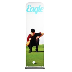 24in x 126in EZ Extend Tension Fabric Banner Stand | Single-Sided Pillowcase Graphic & Tube Frame