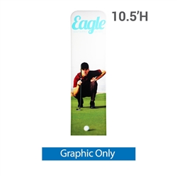 24in x 126in EZ Tube Extend Backwall Banner Stand Display Single Sided Replacement Fabric Only. Banner stands look great as an addition to portable display or exhibit. EZ EXTEND Fabric banner stands are perfect for displaying at any trade show or event.