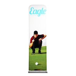 24in x 138in EZ Extend Tension Fabric Banner Stand | Single-Sided Pillowcase Graphic & Tube Frame