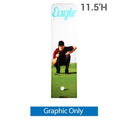 24in x 138in EZ Tube Extend Backwall Banner Stand Display Single Sided Replacement Fabric Only. Banner stands look great as an addition to portable display or exhibit. EZ EXTEND Fabric banner stands are perfect for displaying at any trade show or event.
