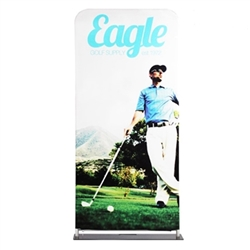 36in x 102in EZ Extend Tension Fabric Banner Stand | Single-Sided Pillowcase Graphic & Tube Frame