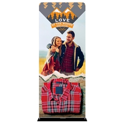 36in x 90in EZ Extend Tension Fabric Banner Stand | Double-Sided Pillowcase Graphic & Tube Frame