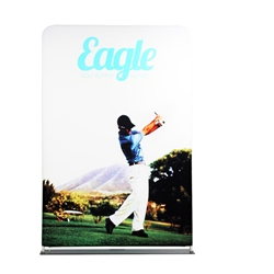 60in x 66in EZ Extend Tension Fabric Banner Stand | Single-Sided Pillowcase Graphic & Tube Frame