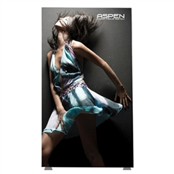 7ft x 8ft Aspen SEG Fabric Frame Single-Sided Graphic Package a classic in the Resort Extrusion collection. Aspen SEG Fabric Frame can be use in  Retail Stores, Malls, Kiosks, Restaurants, Art Galleries, Grand Openings, Trade Shows, Offices, Showrooms