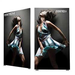8ft x9ft Aspen SEG Fabric Frame Double-Sided Graphic Package a classic in the Resort Extrusion collection. Aspen SEG Fabric Frame can be use in  Retail Stores, Malls, Kiosks, Restaurants, Art Galleries, Grand Openings, Trade Shows, Offices, Showrooms