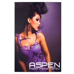 2ft x 2ft Aspen Slim Fabric Frame Graphic Package a classic in the Resort Extrusion collection. Aspen SEG Fabric Frame can be use in  Retail Stores, Malls, Kiosks, Restaurants, Art Galleries, Grand Openings, Trade Shows, Offices, Showrooms
