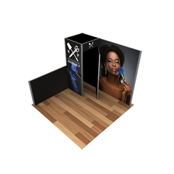 10ft x 10ft Alpine Merchandiser Booth B Graphic Package. Alpine Merchandiser Booths with SEG Fabric can be use in  Retail Stores, Trade Shows, Showrooms. Great for 10ftx10ft booths.