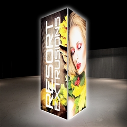 6ft x 12ft Backlit Big Sky Tension Fabric Square Tower Displays are an excellent way to communicate your message or logo in lobbies, showrooms, retail stores, shopping malls, airports, trade shows or any other venues.