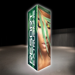 4ft x 12ft Big Sky Tension Fabric Square Tower Displays are an excellent way to communicate your message or logo in lobbies, showrooms, retail stores, shopping malls, airports, trade shows or any other venues.