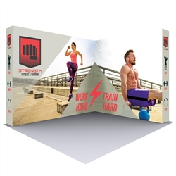 10 Ft. Lumiere Light Wall Display Configuration B - Double-Sided, No Lights. A combination of innovative silicone-edge graphics and RPL fabric pop ups offers an easier and more cost effective push-fit option.