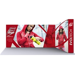 Lumiere Light Wall Display Configuration G - Double-Sided, No Lights. A combination of innovative silicone-edge graphics and RPL fabric pop ups offers an easier and more cost effective SEG option.