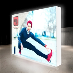 10ft X 7.5ft Lumiere Light Wall Display Single-Sided - Backlit (Graphic Package) A combination of innovative silicone-edge graphics and RPL fabric pop ups offers an easier and more cost effective SEG option.