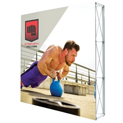 7.5ft X 7.5ft Lumiere Light Wall Display Single-Sided - No Lights (Graphic Package). A combination of innovative silicone-edge graphics and RPL fabric pop ups offers an easier and more cost effective SEG option.