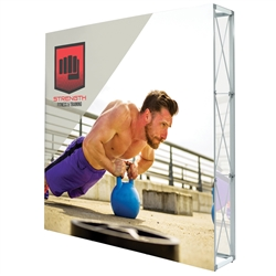 7.5ft X 7.5ft Lumiere Light Wall Display Double-Sided - No Lights (Graphic Package). A combination of innovative silicone-edge graphics and RPL fabric pop ups offers an easier and more cost effective SEG option.