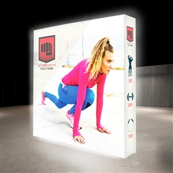 7.5ft X 7.5ft Lumiere Light Wall Display Double-Sided - Backlit (Graphic Package). A combination of innovative silicone-edge graphics and RPL fabric pop ups offers an easier and more cost effective SEG option.