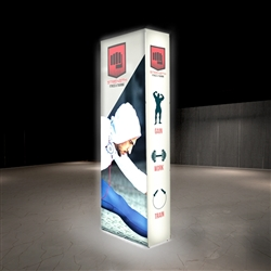 2.5ft X 7.5ft Lumiere Light Wall Display Single-Sided - Backlit (Graphic Package). A combination of innovative silicone-edge graphics and RPL fabric pop ups offers an easier and more cost effective SEG option.